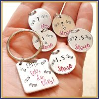 Personalised Weight Loss Tracker Keyring - Weight Loss Certificate - Weight Loss Keyring - Weight Loss Journey
