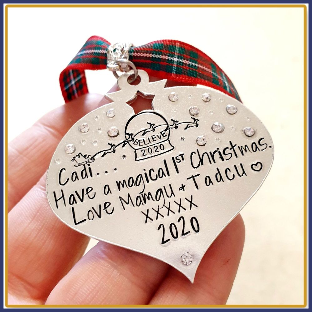 Sparkly Daughter Christmas Decoration - Son Christmas Ornament - Daughters