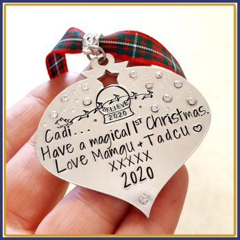 Sparkly Daughter Christmas Decoration - Son Christmas Ornament - Daughters Like You Are Precious And Few - Personalised Christmas Decoration