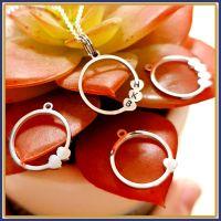 Personalised Family Pendant For Mum - Initial Jewellery For Grandma - Jewellery With Initial - Initial Heart Pendant - Family Tree Jewellery