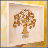 Personalised Family Tree Framed - Pretty Family Tree - You Choose Colour - Unique Retirement Gift - Gift For Grandparent - Family Gift