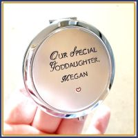 Adult Goddaughter Gift - Goddaughter Compact Mirror - Personalised Compact Mirror - Christening Gift - Personalised Goddaughter Gift