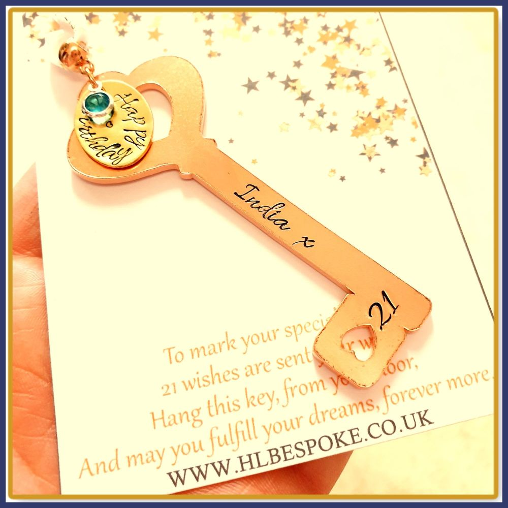 21th Birthday Key Gift For Her - 16th Birthday Key To The Door Gift - Key T