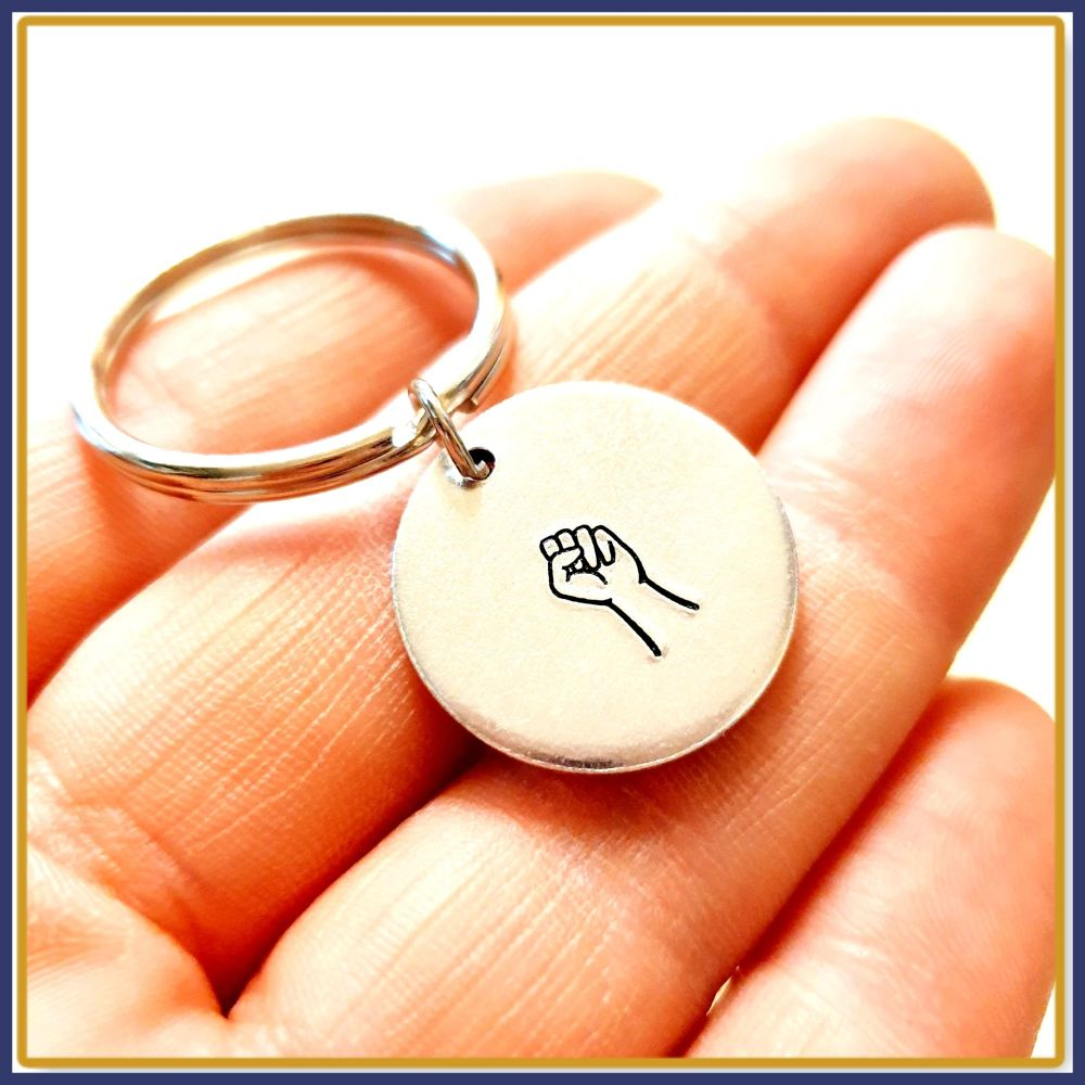 Simple Fist Keyring - Fist Gift Keychain - Solidarity Keyring - BLM Keyring