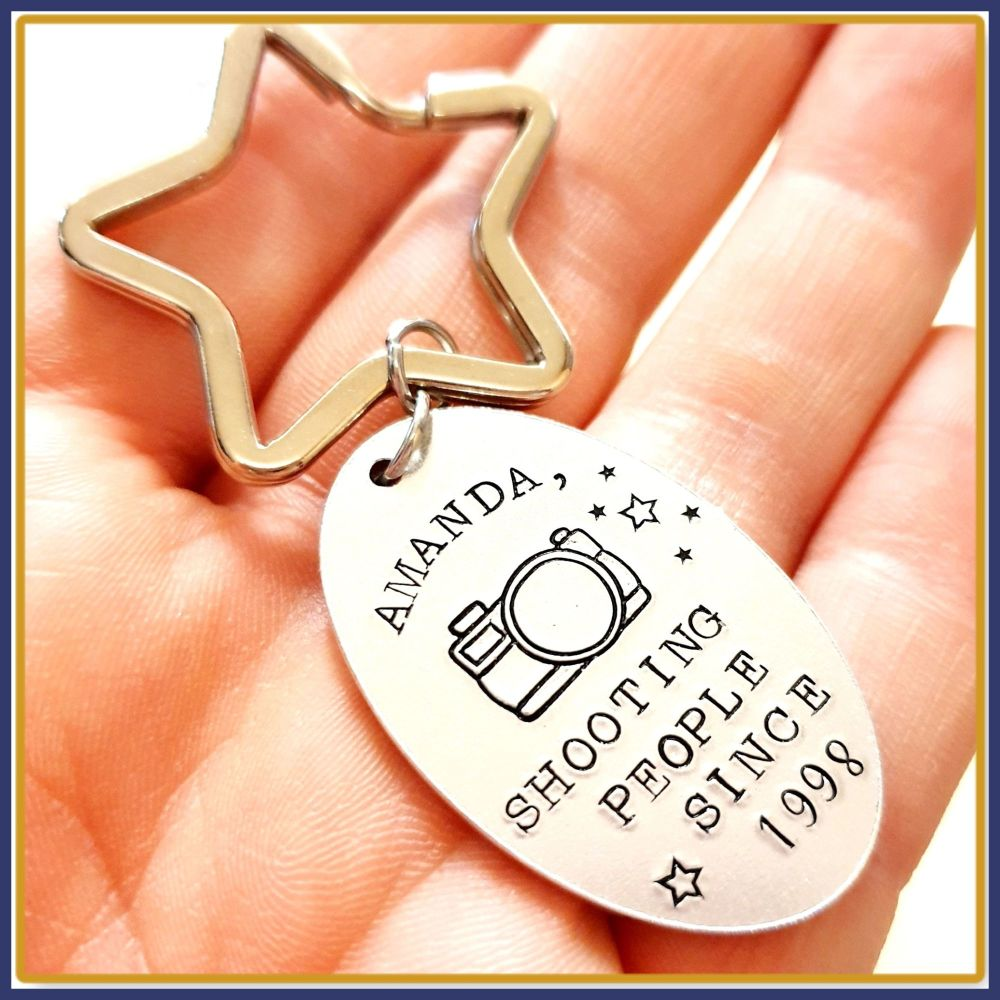 Personalised Gift For Photographer Keyring - Gift For New Photographer - Fu
