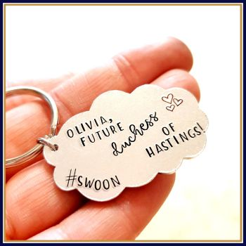 Personalised Future Duchess Of Hastings Keyring Gift - Funny Duchess Gift For Friend - Gift To Cheer Up A Friend - Duchess Of Hastings Gift