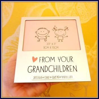 Personalised Grandparent Photo Frame - Photo Frame Gift For Grandparent - Silver Photo Frame For Great Grandparents - Grandparent Photo Gift