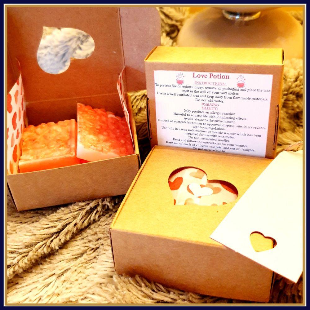 Love Potion Snap Bar Valentine's Day Wax Melts - Valentine's Night Gift Soy