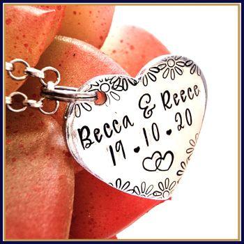 Personalised Anklet - Custom Anklet - Heart Anklet - YOU CHOOSE WORDING - Wedding Anklet - Mother's Day Jewellery - Personalised Jewellery