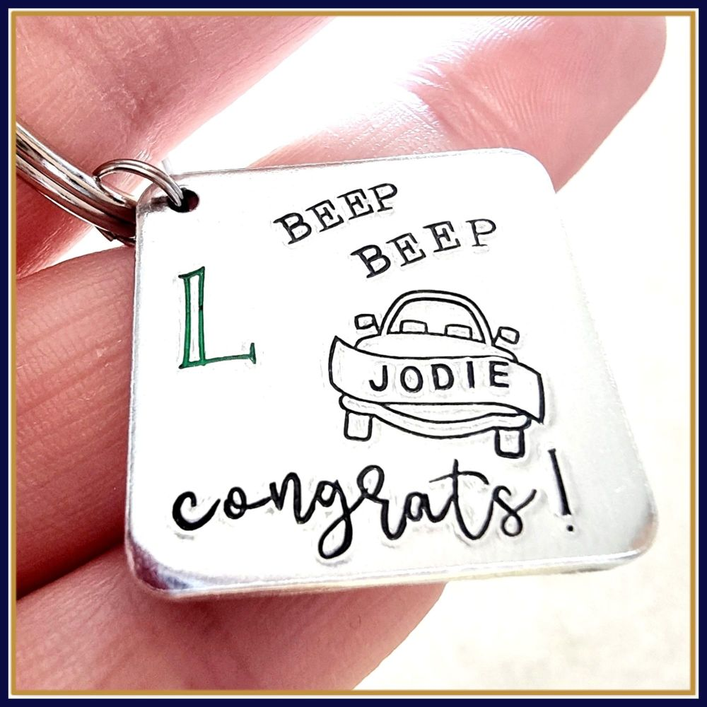 Personalised Just Passed New Driver Keyring Gift - Just Passed Keyring - Ne