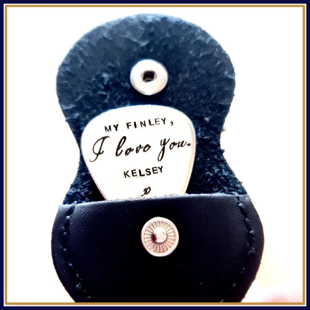 Personalised Guitar Pick - I love You Gift - Love You Musician Gift - I lov