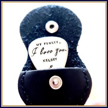 Personalised Guitar Pick - I love You Gift - Love You Musician Gift - I love You Plectrum - Personalised Plectrum - Custom Guitar Pick