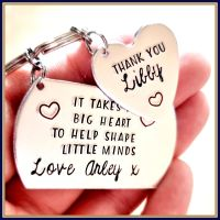Childminder Keyring - It Takes A Big Heart - Thank You Child Minder - Help Shape Little Minds - Teacher Gift - Gift For Teaching Assistant