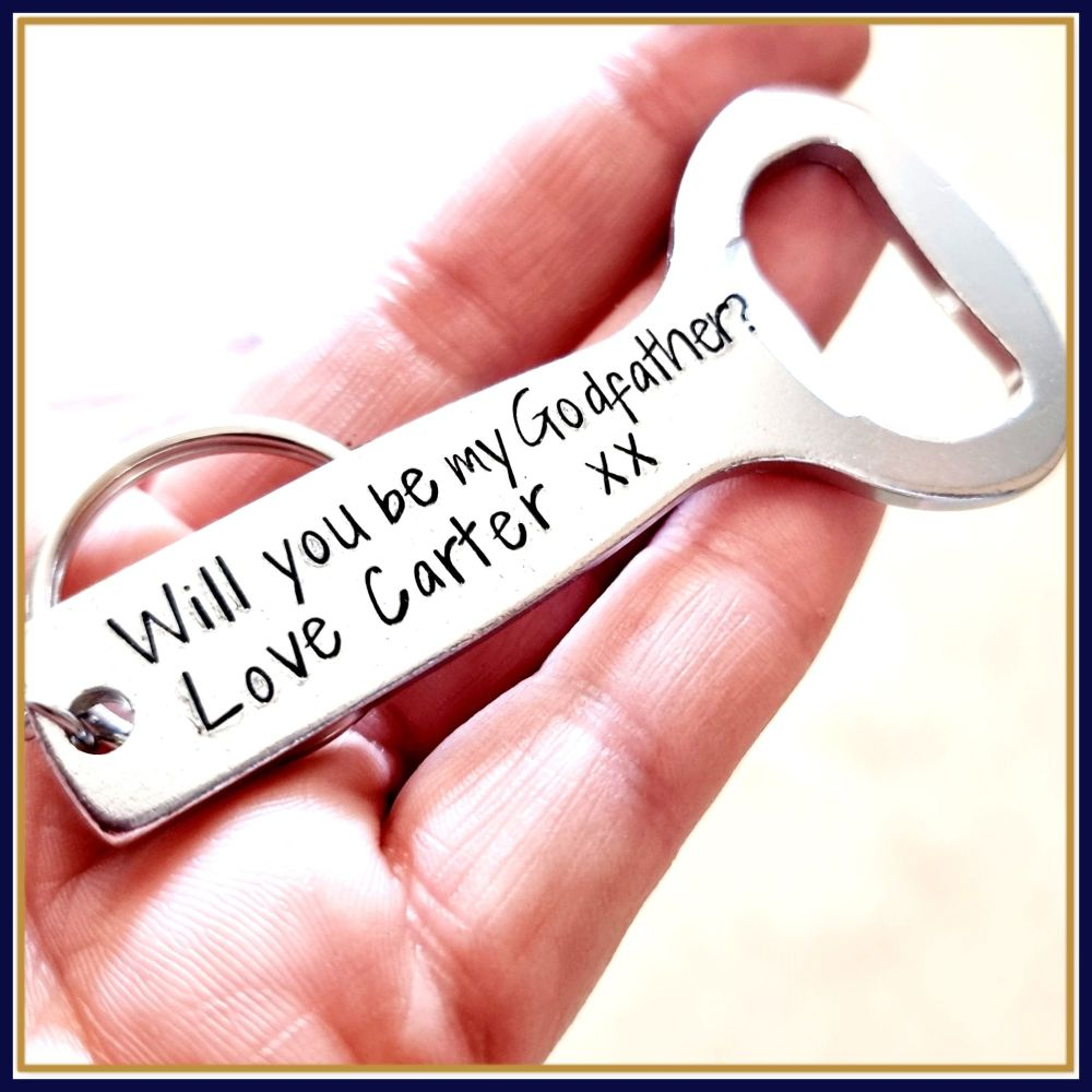 Will You Be My Godfather Bottle Opener Gifts - Gift For Godfather - Asking