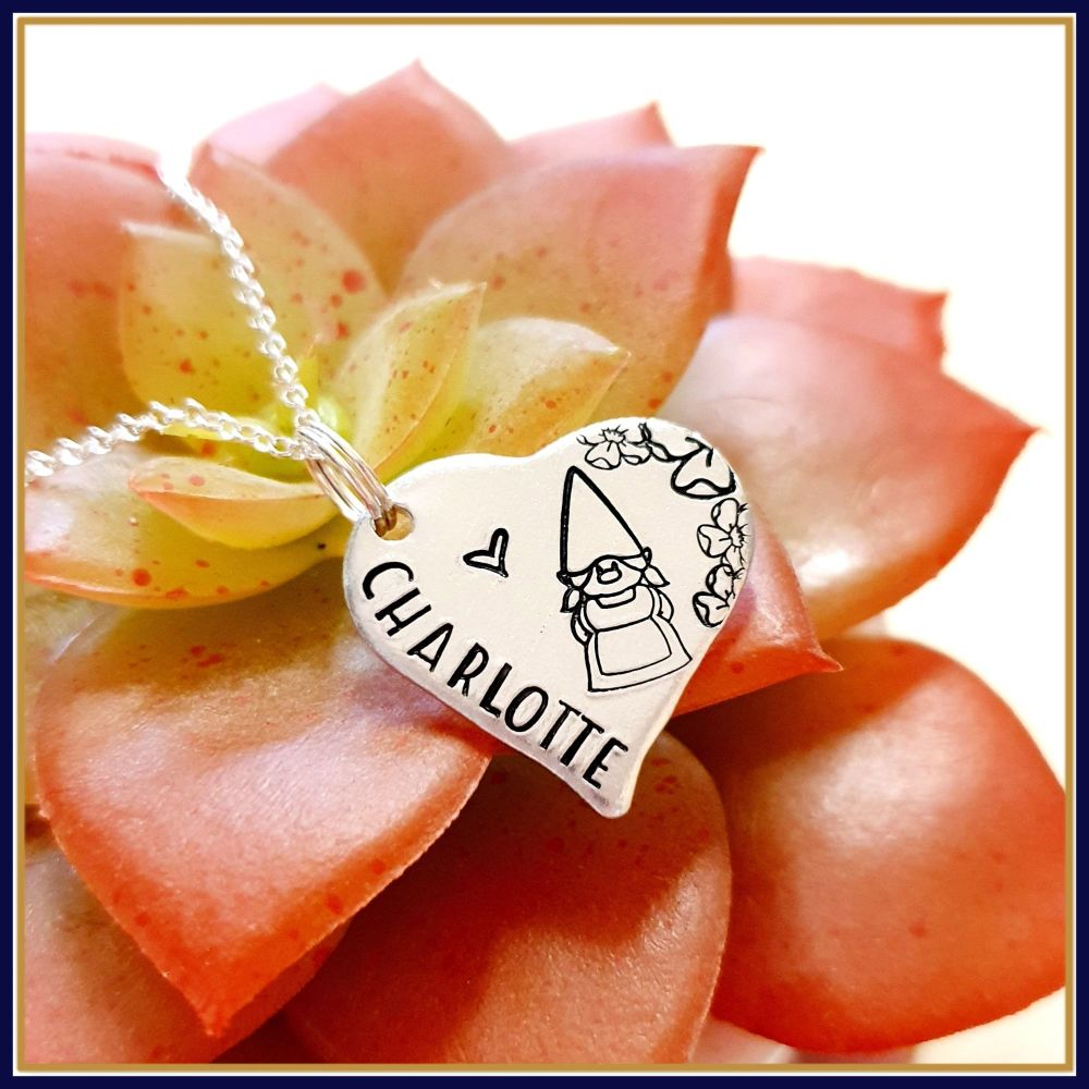 Personalised Gnome Pendant Jewellery Gift For Friend - Always Be My Gnomie