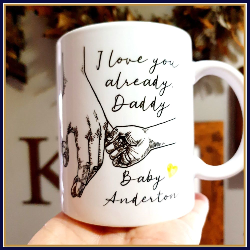 Pregnant Father's Day Gift - Daddy To Be Birthday Mug Gift - I Love You Alr