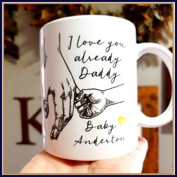 Pregnant Father's Day Gift - Daddy To Be Birthday Mug Gift - I Love You Already - Daddy Gift From The Bump - Daddy Fathers Day Bump Gift