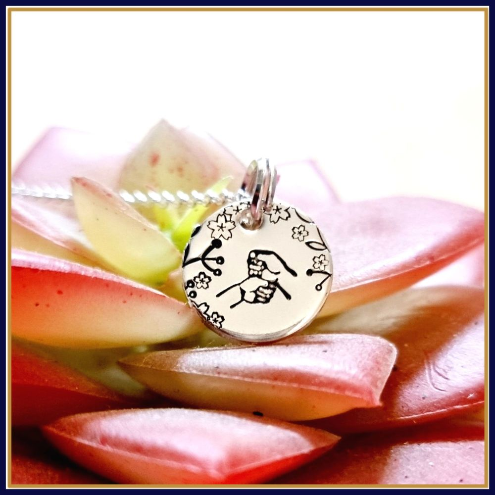 Personalised Dainty BSL Initial Necklace - Pendant BSL Gift For Her - BSL J