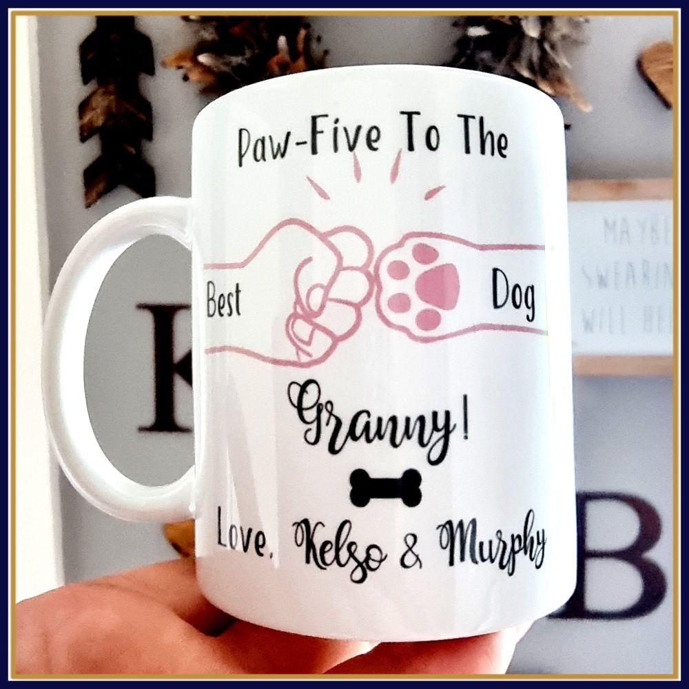 Personalised Dog Granny Mug - Mother's Day Pet Nan Gift - Gift For Dog Love