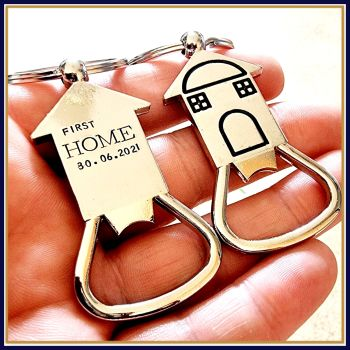 Personalised New Home Gift - Bottle Opener - First Home Keyring - Lads Pad Gift - Personalised Bottle Opener - House Warming Gift - First Home