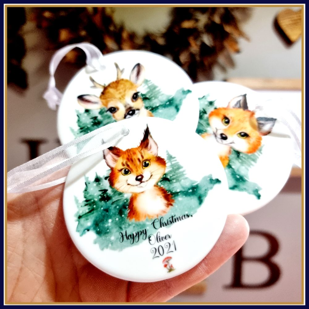 Subimated Ceramic Christmas Decorations