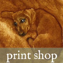 collagraph print of a puppy
