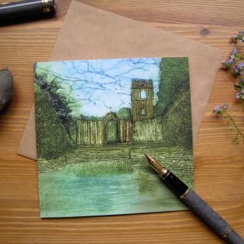 Fountains Abbey card