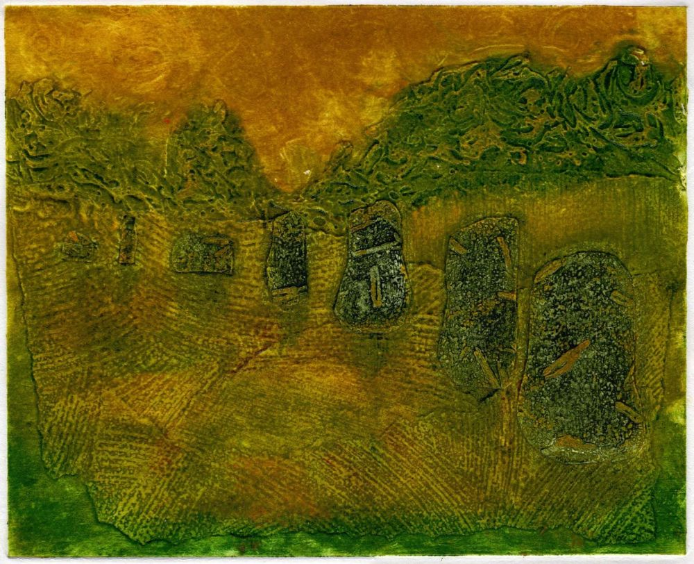 Impressions of Avebury (I) monoprint