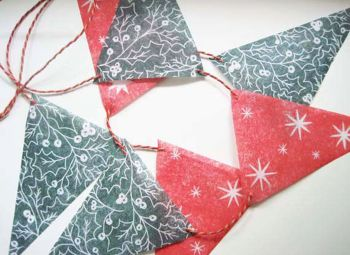 Christmas Bunting - Holly and Stars