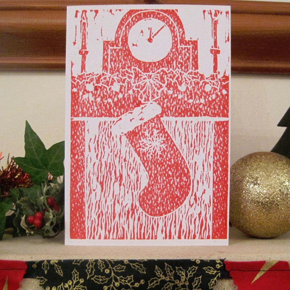 Christmas Stocking - handmade card