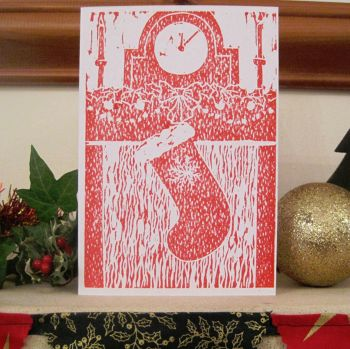Christmas Stocking Handmade card