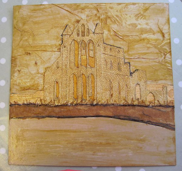 completed collagraph plate