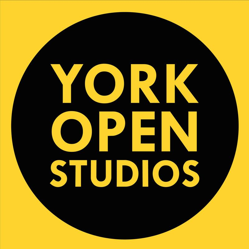 York Open Studios round logo in black and yellow