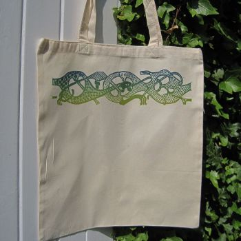 Oseberg Tote Bag - Blue/Green