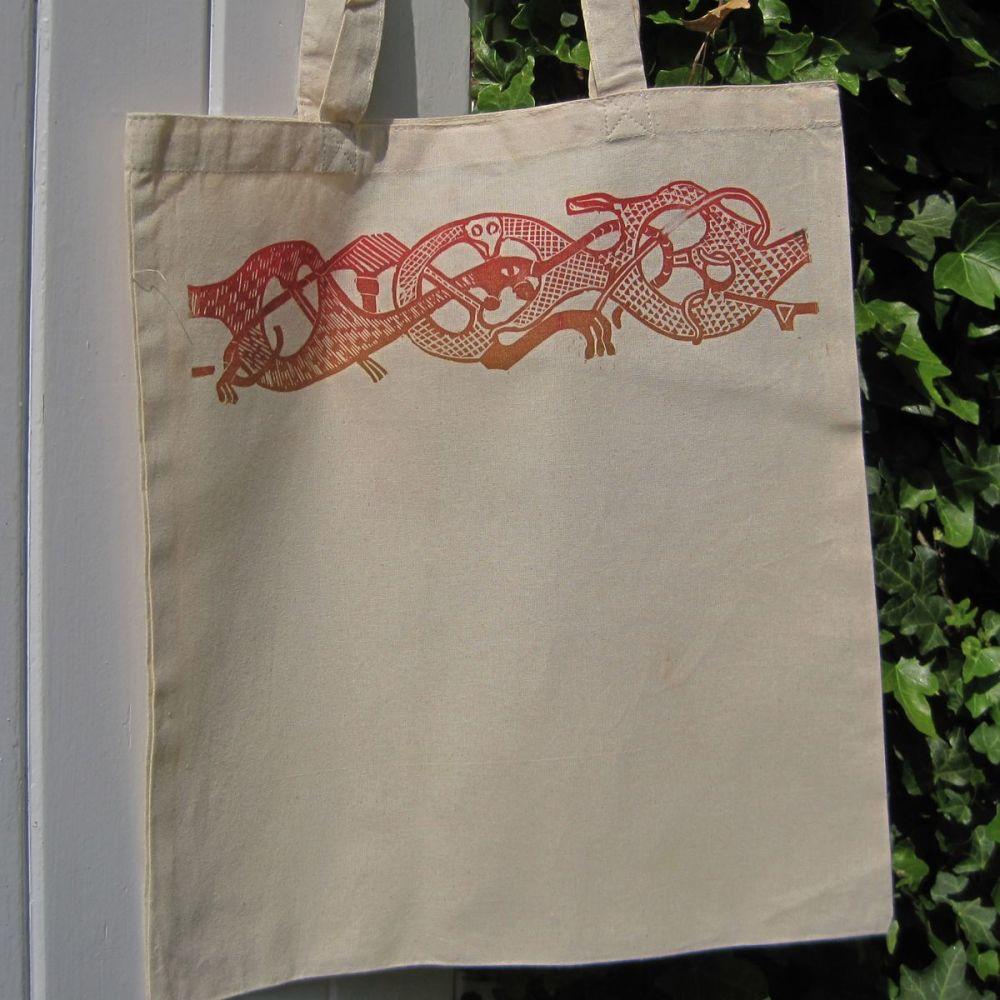 Oseberg Tote Bag - Red/Brown