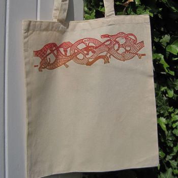 Oseberg Tote Bag - Red/Brown
