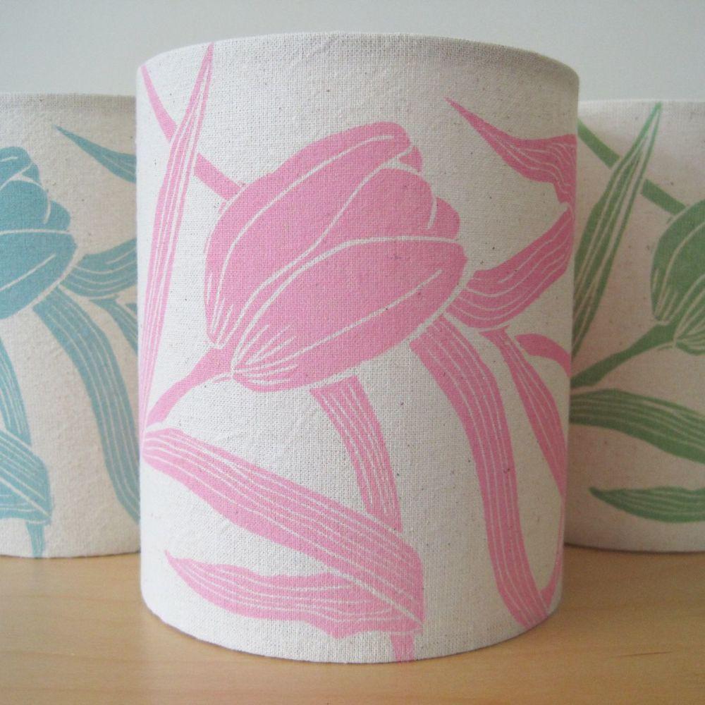 Tulip Garland Lantern - pink