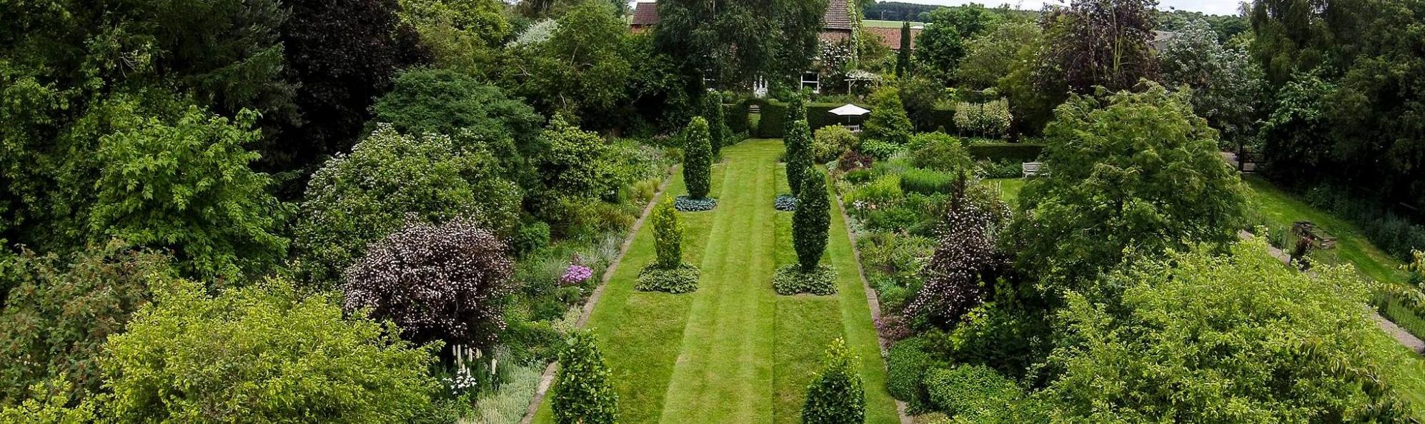 ariel view of Stillingfleet Lodge Gardens