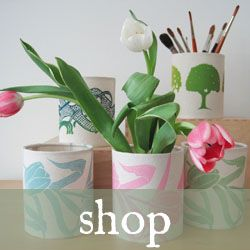 selection of handprinted homeware