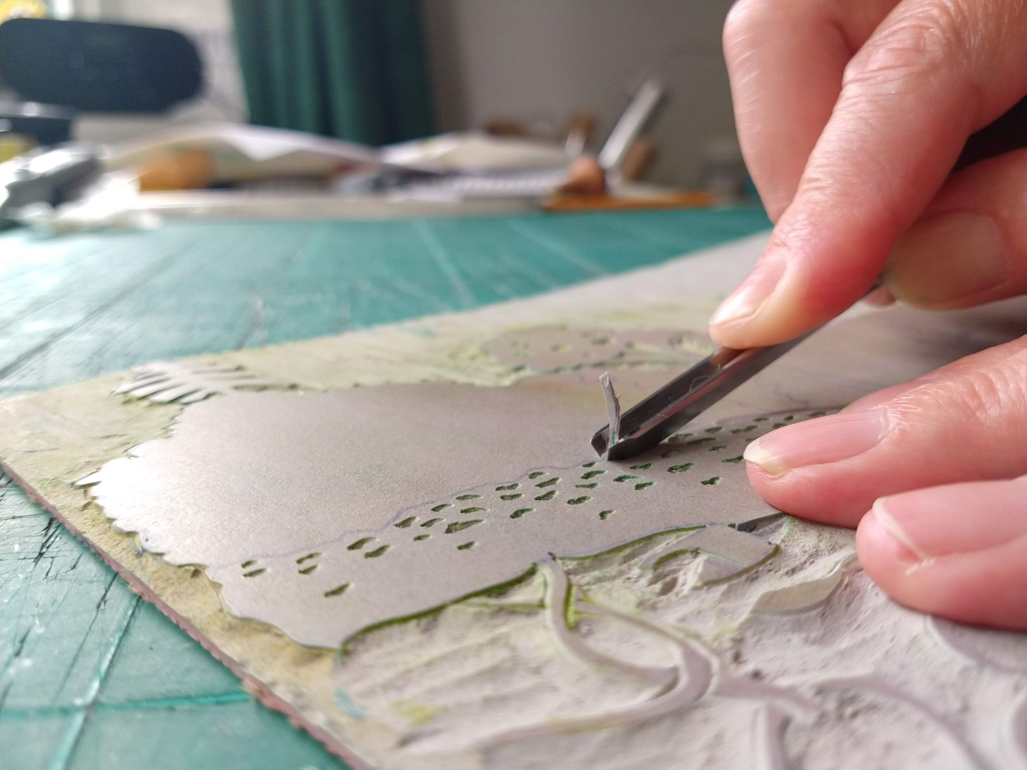 hand carving lino