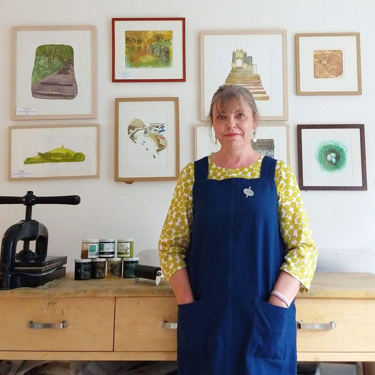 Jane Duke in her studio