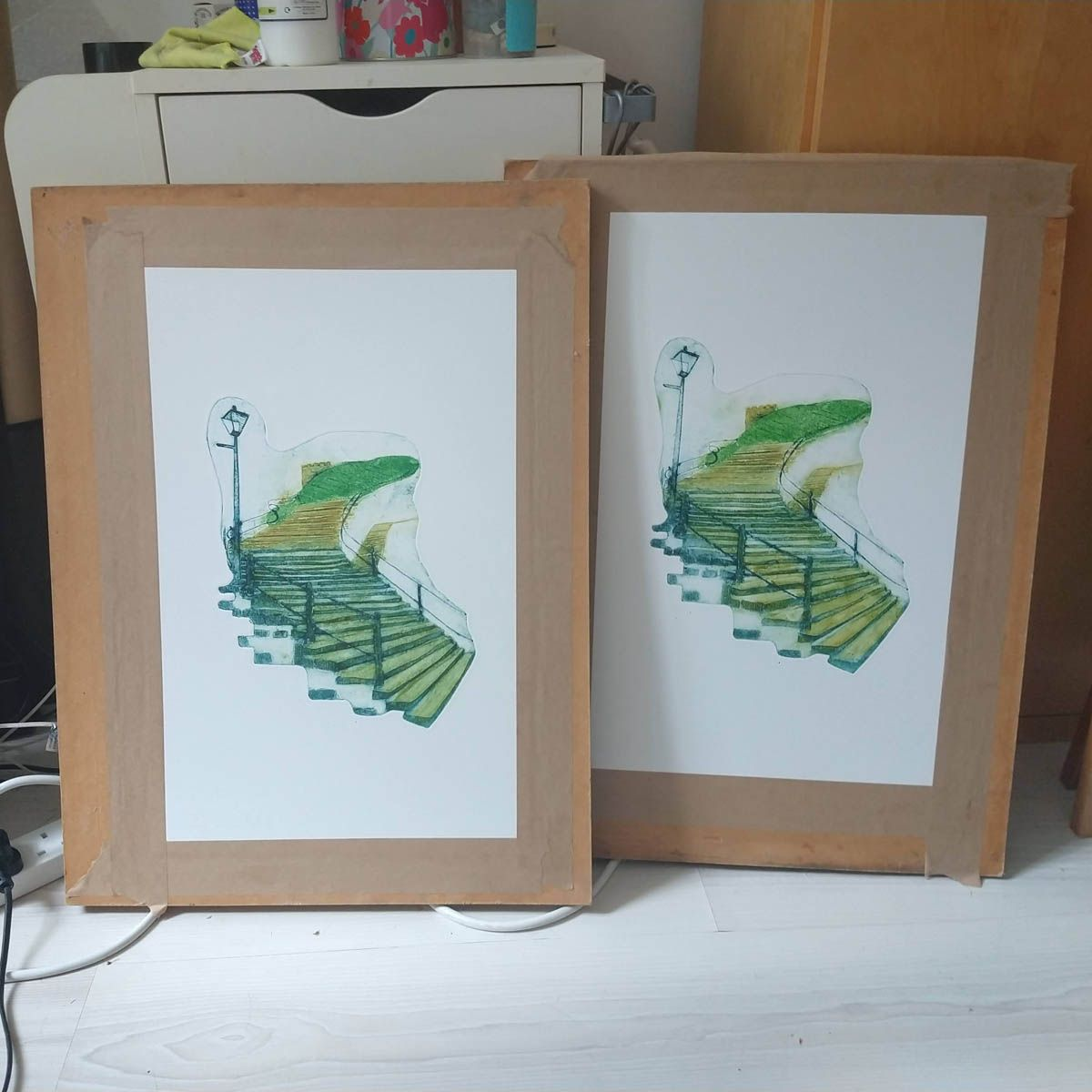 prints drying