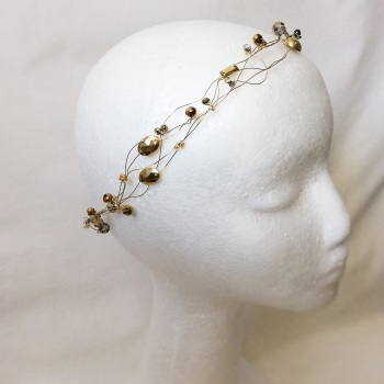 Gold and grey circlet, Golden Fairy Collection