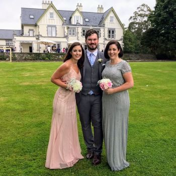 Dromquinna Manor wedding bridal party, bridesmaid, grooms people