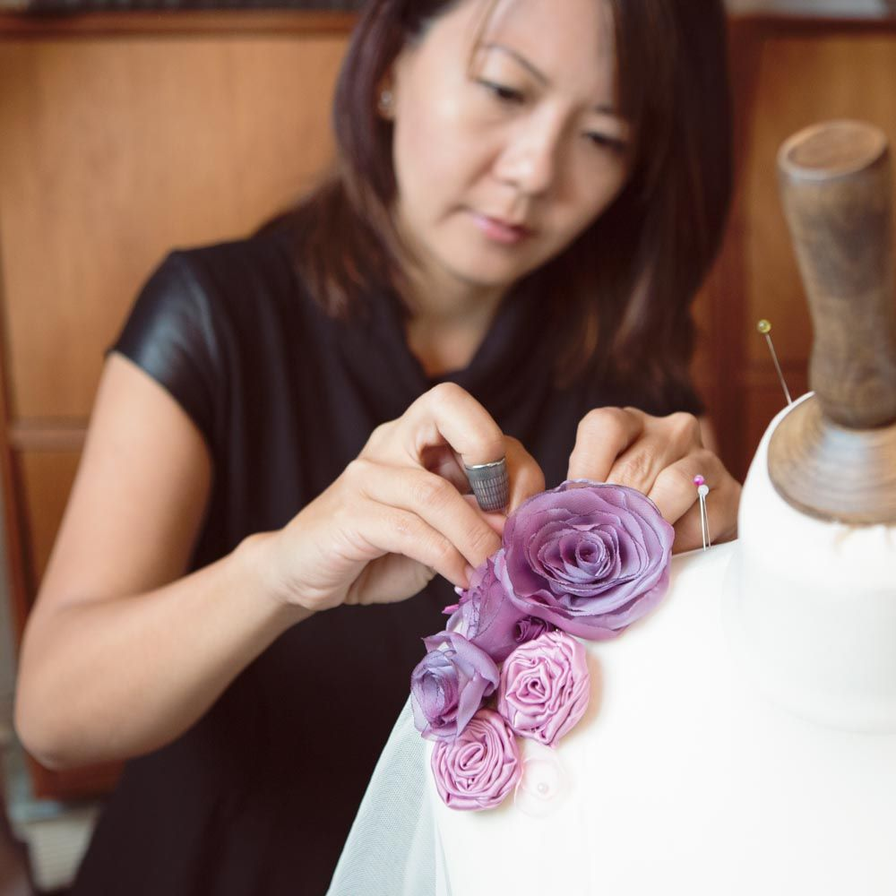 Sharon Lam Gilding, Designer Maker at Blue Lily Magnolia, bespoke bridal accessories