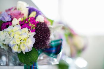 Tartan bouquet, Scottish themed wedding