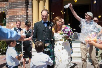 Confetti Scottish kilt groom