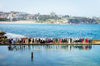 Coogee beach wedding, Wylies Bath wedding, beach wedding Blue Lily Magnolia