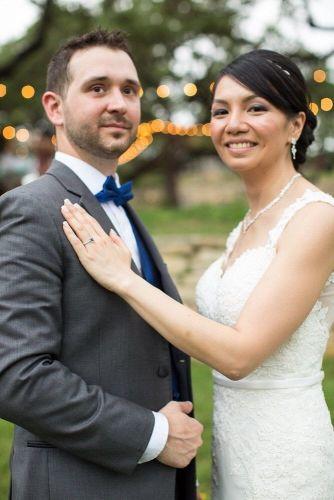 Melanie and Daniel skinny wedding belt