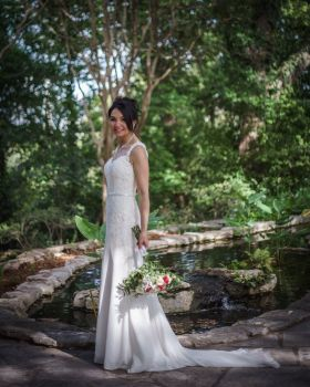 bridal photoshoot with Parvani Vida dress and Blue Lily Magnolia belt